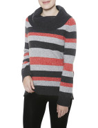 Wide Stripe Cowl Neck Pullover $90.30