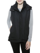 Puffer Vest with Detachable Hood $139.00