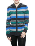 STRIPE ZIP THRU CARDIGAN W/HOOD $97.30