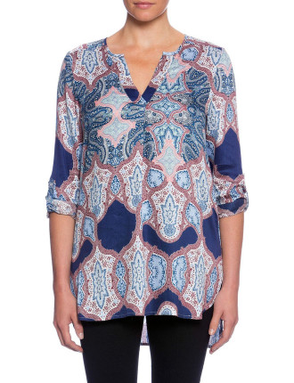 TRANQUILITY PAISLEY PRINT TUNIC