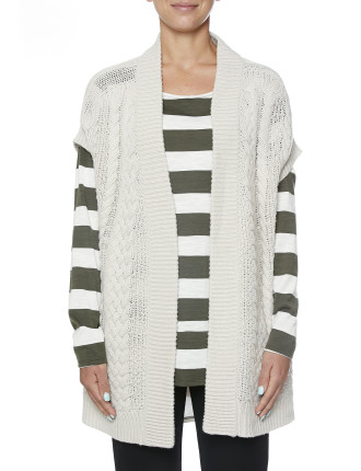 Extended Slv Cable Detail Cardi