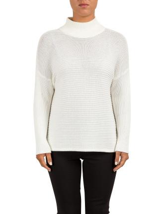 Turtle Nk Horizontal Knit Sweater