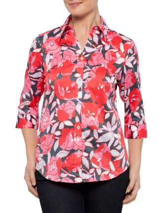Petals Cotton Sateen Shirt