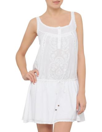 Casablanca Lace Panel Cotton Tunic