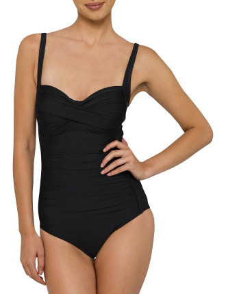 Hide Your Tummy Chic Ruched Swimsuit