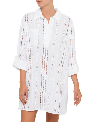 Medina Eyelet Beach Shirt
