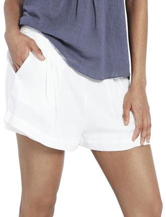 Pintuck Band Shorts