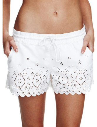 Perforated Lace Short