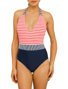 Duo Stripe Halter One Piece $169.00