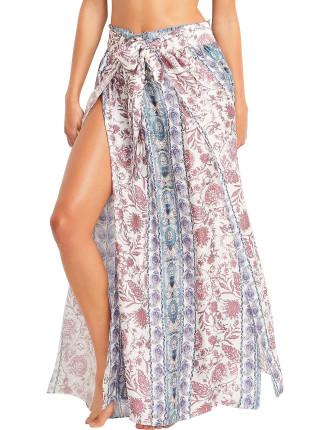 Pushkar Paisley Wrap Skirt