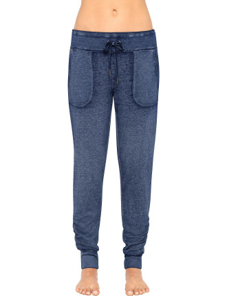 Skinny Sweatpants With Side Ruching