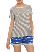 Stripe Backless Tee $34.95