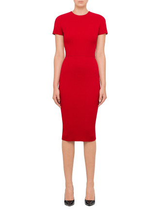 T-Shirt Fitted Dress With Belt