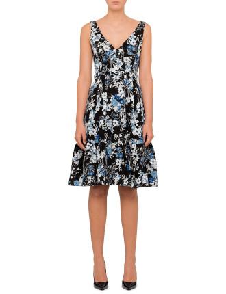 Gaby Sleeveless V Neck Dress