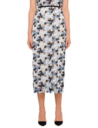Safia Guipure Lace Skirt