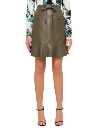 Plonge Leather Skirt