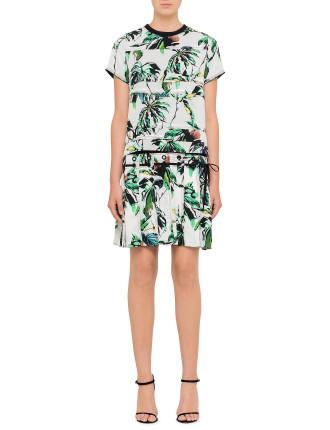 Tropical Round Neck Dress