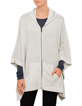 Thermal Hooded Poncho Knit