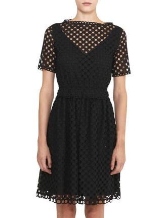 Cotton Ajour Dress