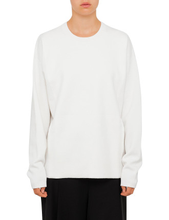 Crew Neck Pullover With Seamless Pocket