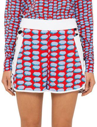 Bi Colour Print Shorts