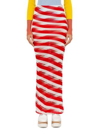 Multi Transparent Long Skirt
