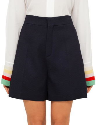 Textured Crepe Longer Shorts