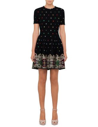 Cross Stitch Knit Dress
