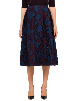 Imari Midi Fil Coupe Skirt