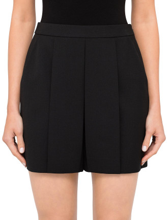 Cropped Short With Fold Front Detail