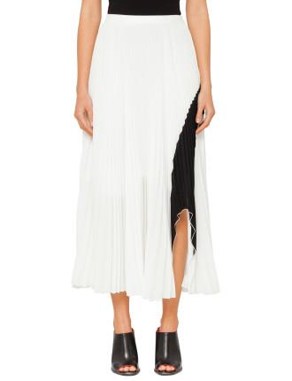 Pltd Skirt W Arched Hem-Color
