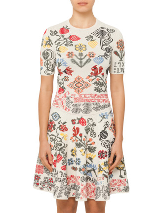 Knit Jacquard Mini Dress
