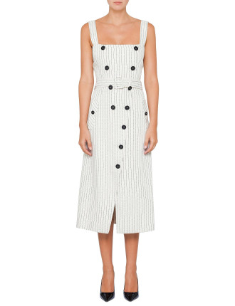 AUDREY DOUBLE BUTTON S/L DRESS