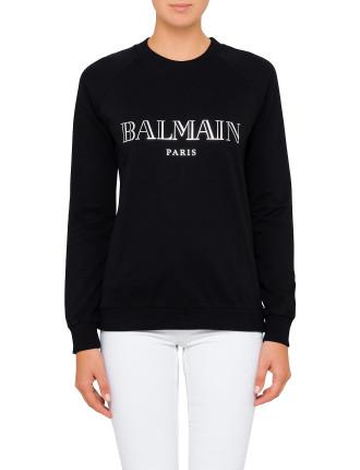 Long Sleeve Logo Balmain Sweat