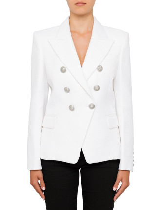 Six Button Jacket in White
