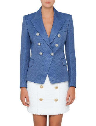 Six Button Jacket in Blue