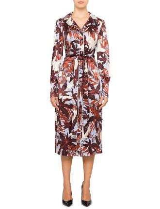 QUENNA L/S PAJAMA SHIRT DRESS