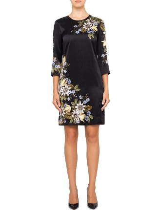 EMMA FLORAL SHIFT DRESS