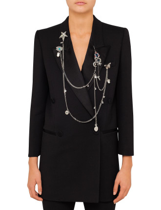 Wool Silk Tuxedo Jacket