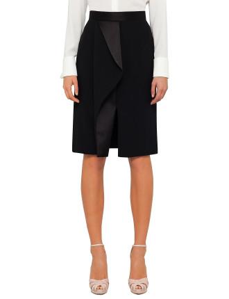 Leaf Crepe Skirt