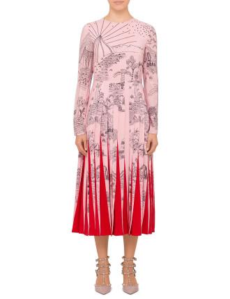 Pale Pink Pleat Dress