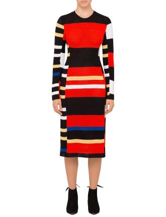 Long Sleeve Crewneck Dress