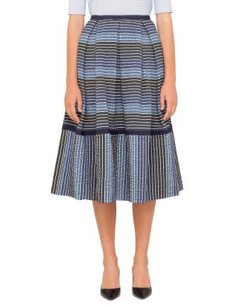 Elna Degrade Stripe Skirt