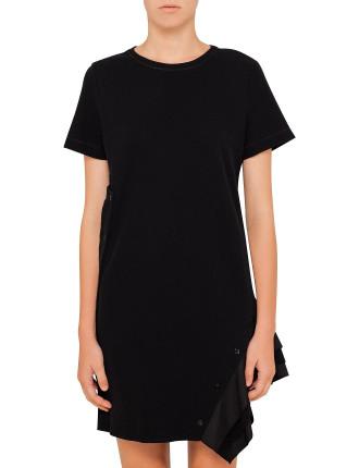 T-Shirt Dress With Ruffle