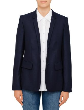 Fleur Textured Wool Jacket