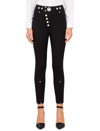 High Waisted Legging With Multi Snap Button Detail