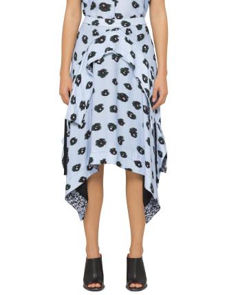 Midi Ruffle Skirt Large Leopard