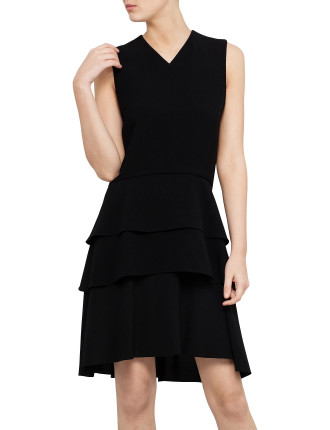 Sleeveless Ruffle Skirt Dress