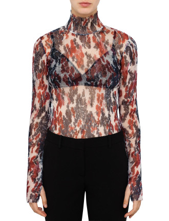 Silk Crushed Flower Top