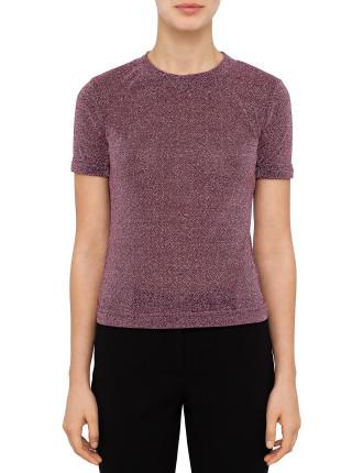 Quinn Top  (Pink Metallic W Sleeve)